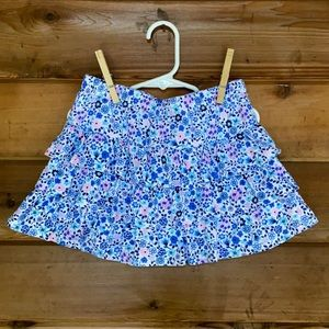 Epic Threads Floral Tiered Scooter Skirt (6X)